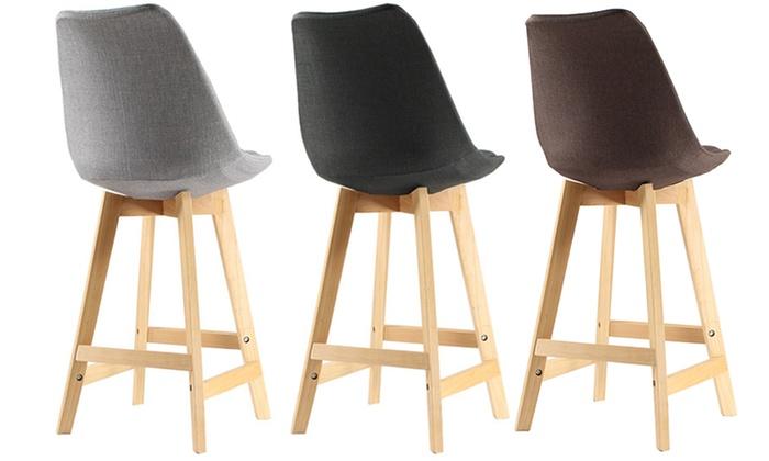lot de 2 tabourets de bar oslo groupon. Black Bedroom Furniture Sets. Home Design Ideas