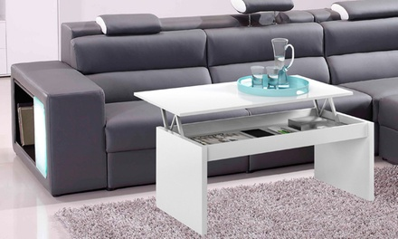Table basse plateau amovible groupon for Groupon table basse