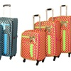 Polka Dot Delight Three-Piece Spinner Luggage