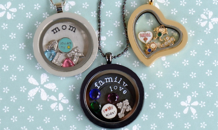 Stamp the Moment: Heart- or Round-Locket Necklace or Bracelet with Two Charms from Stamp the Moment (58% Off)