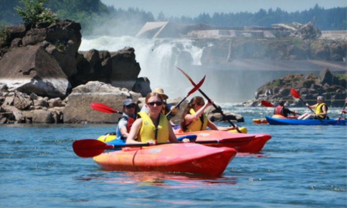 Northwest River Guides - Oregon City: $24 for a 90-Minute Kayak Tour of Willamette Falls from Northwest River Guides in Oregon City ($49 Value)