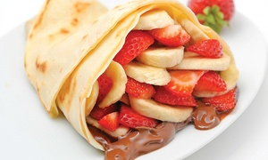 Crepe De Licious: Choice of Crêpe, Sandwich or Salad with a Soft Drink for Up to Four at Crepe Delicious (Up to 56% Off)