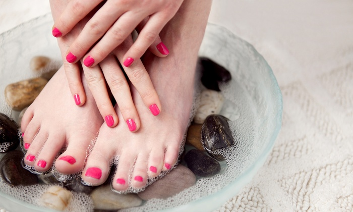 In Style Nails - Lowell: One or Two Gel Manicures and Deluxe Spa Pedicures at In Style Nails (Up to 58% Off)