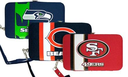 NFL Craquelure Shell Wristlet