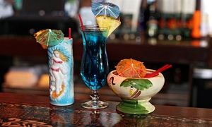 Tiki Terrace: Hawaiian Dinner and Drinks at Tiki Terrace (Up to 45% Off). Two Options Available.