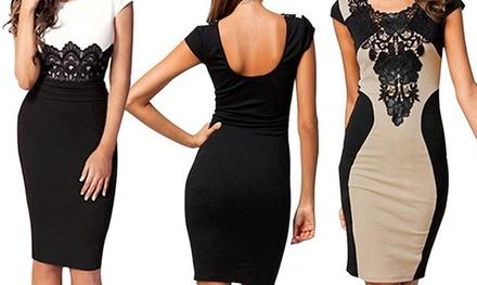 Kleid mit Spitze in der Farbe nach Wahl (81% sparen*)