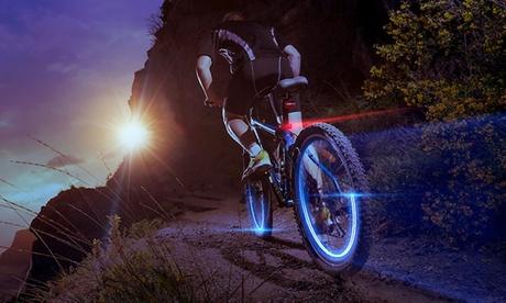 Luci LED per ruote di auto o bici. Vari colori disponibili
