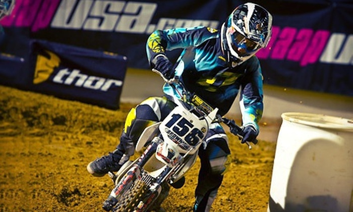 GEICO MiniMotoSX - Orleans Arena: GEICO MiniMotoSX for Two or Four at Orleans Arena on Sunday, May 5 (Up to 58% Off)