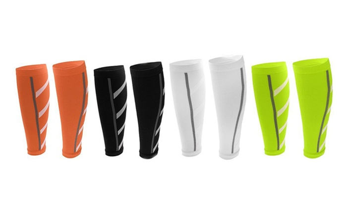 Pure Fitness Assorted Calf Compression Sleeves (4-Pack)