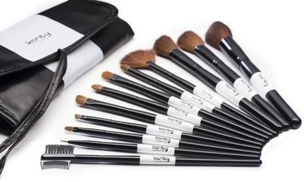 12piece makeupbrush set  groupon goods