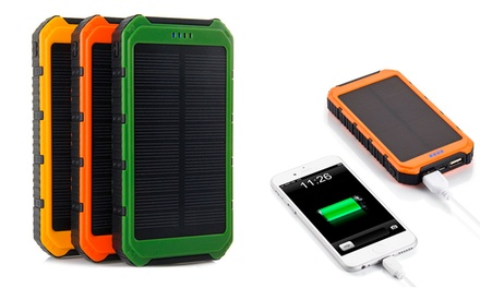 Powerbank solar de 10000mAh disponible en tres colores