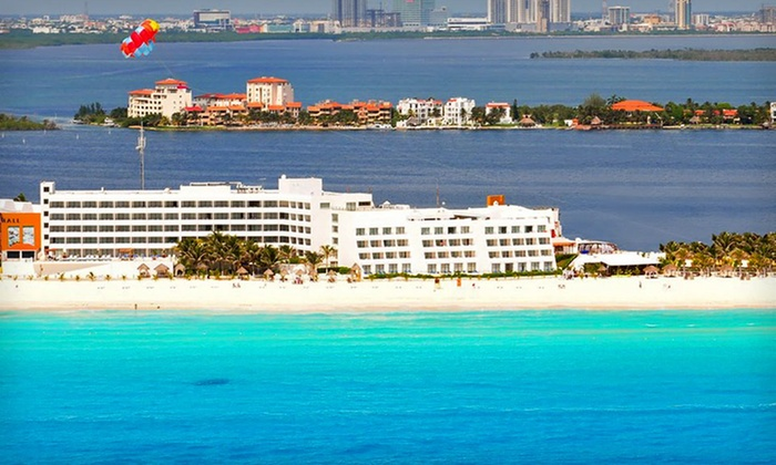 All-Inclusive Cancun Vacation with Airfare from Vacation Express - New York City: 6- or 7-Night All-Inclusive Cancun Vacation with Stay at Flamingo Cancun Resort and Airfare from Vacation Express