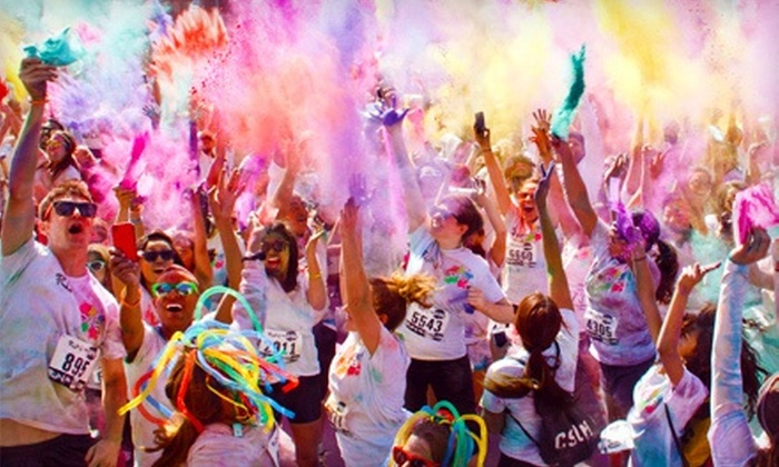 The World's Most Colorful Fun Run - Exchange Park: Colorful 5K Race Entry for One or Two at The World's Most Colorful Fun Run on December 14 (Up to 53% Off)