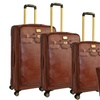 4-Piece Lizard Grain Nested Luggage Set