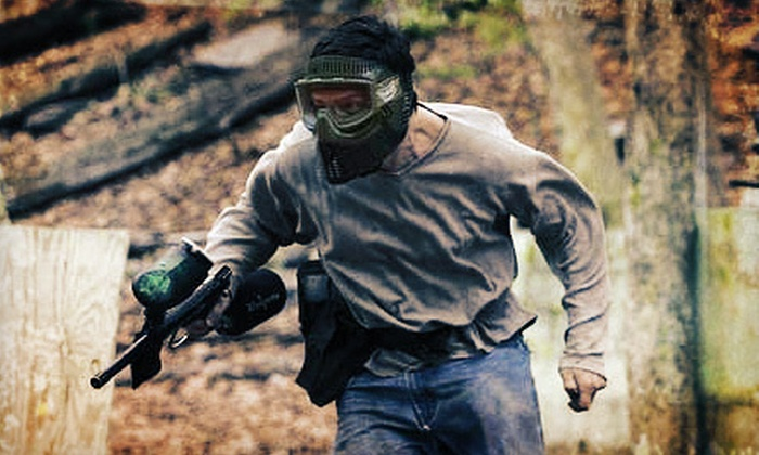 Extreme Paintball - Waterbury: All-Day Paintball Outing for One or Two with Markers, Safety Gear, and Paintballs at Extreme Paintball (Up to 52% Off)