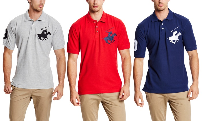 Beverly Hills Polo Club Men's Super Horse Polos | Groupon
