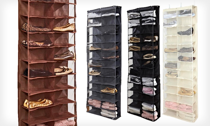 Over-the-Door Shoe Organizer: $22 for an Over-the-Door Shoe Organizer in Black, Chocolate, Cream, or Grey ($50 List Price). Free Returns.