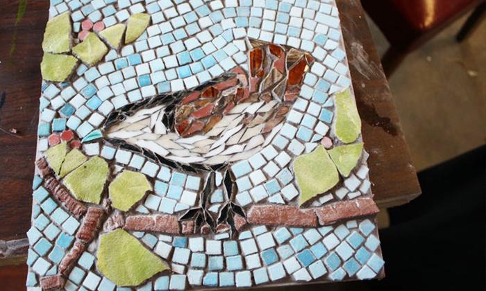 Kristi Duckworth - Garden Path Studio - New Pathways: Three-Hour Introduction to Mosaic Art Class for One or Two at Kristi Duckworth – Garden Path Studio (Up to 64% Off)