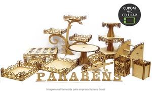 Inpress Brasil: Inpress Brasil – Núcleo Bandeirantes: kit festa provençal decorativo MDF - 18 peças