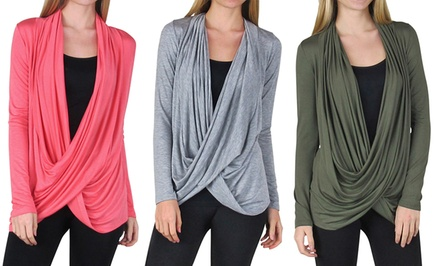Free to Live Women's Crisscross Cardigan