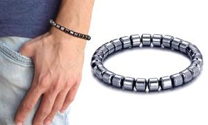 Bracelet hématite extensible homme