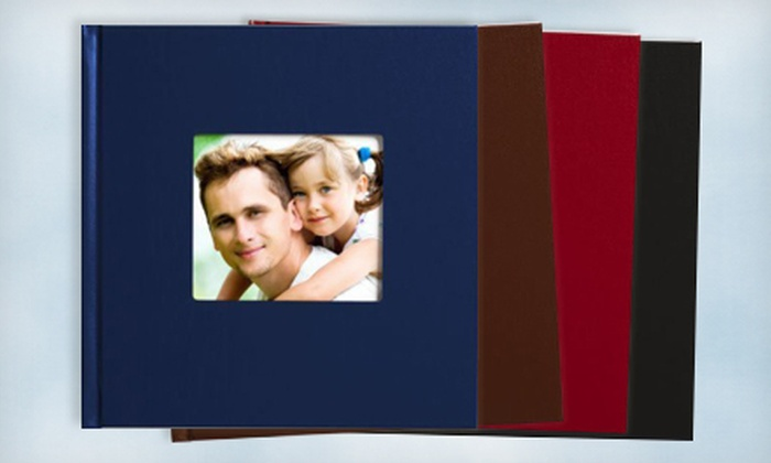 "GOphotobooks: Custom 8""x8"" or 11""x8.5"" Hardcover Photo Book with a Cover Window from GOphotobooks (Up to 67% Off)"