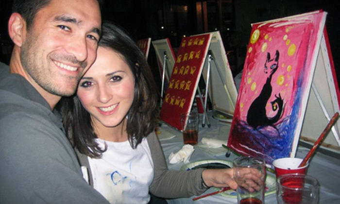 Paint Nite - Multiple Locations: $24.25 for a Two-Hour Painting Party from Paint Nite ($45 Value)