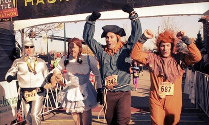 Haunted Hustle Marathon, Half Marathon, & 10k - Greenway Station: $23 for a 10K Race in the Haunted Hustle Marathon, Half Marathon & 10K on Saturday, October 13 (Up to $46 Value)