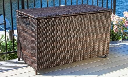 Wicker Outdoor Patio-Cushion Box