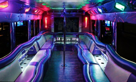 Three- or Five-Hour Party Bus Rental from Mr. Party Bus Limos (Up to 54% Off)