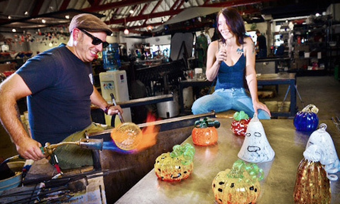 Uptown Glassworks - Industrial District East: Blow-Your-Own Glass-Pumpkin or Glass-Ghost Project for One or Two at Uptown Glassworks (Up to 51% Off)