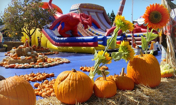 Norris Amusements - Carlsbad: $32 for All-Day Inflatable Passes for Two and One Pumpkin at Norris Amusements (Up to $64 Value)