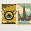 """Anderson Design Group 24""""x18"""" Retro U.S. Cities Travel Posters"""