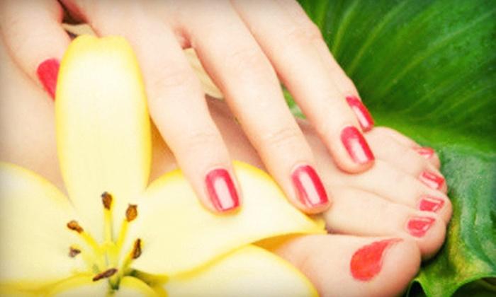 Sassy Nailz and Tropical Sun Tan Spa - Springfield North: Mani-Pedi or Massage with Spa Pedicure or Shellac Manicure at Sassy Nailz and Tropical Sun Tan Spa (Up to 57% Off)