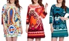 White Mark Plus Size Printed Shift Dresses: White Mark Plus Size Printed Shift Dresses. Multiple Styles Available. Free Returns. | Brought to You by ideeli