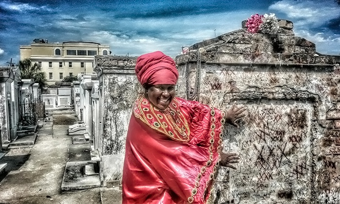 The Voodoo Bone Lady Haunted Tours - French Quarter: Cemetery Tour Admission for One, Two, Four, or Six from The Voodoo Bone Lady Haunted Tours (Up to 46% Off)