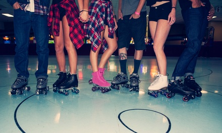 Roller-Skating Plus Skate Rental for Two, Four, or Six at Fountain Valley Skating Center (Up to 49% Off)