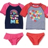 Infant/Toddler Girl Two-Piece Surfer-Style Swim Sets