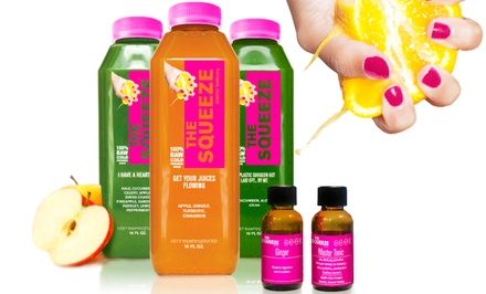 One or Two Three-Day Juice Cleanses from The Squeeze (Up to 52% Off). Shipping Included.