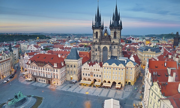 Prague: 1 to 3 Nights for Two with Breakfast at 4* Wellness Hotel Step