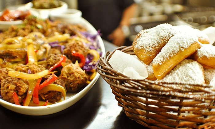 Dhat Island Caribbean Creole Cuisine - Dhat Island Caribbean Creole Cuisine: Caribbean and CreoleFood or Beignets at Dhat Island Caribbean Creole Cuisine (Up to 50% Off)