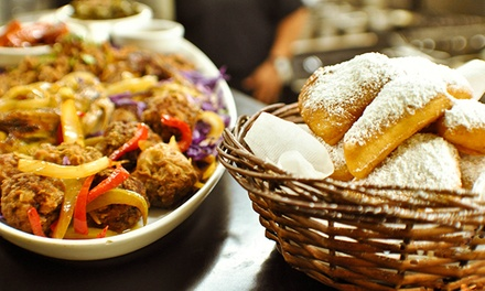 Caribbean and CreoleFood or Beignets at Dhat Island Caribbean Creole Cuisine (Up to 50% Off)