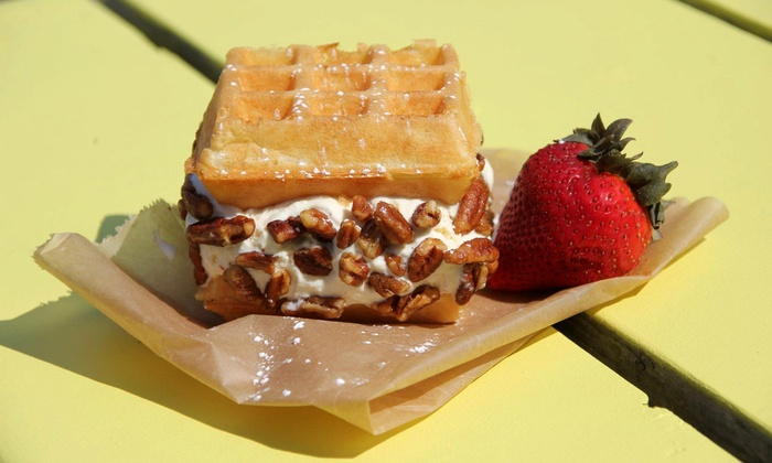 Wannawaf - Boothbay: $15 for Three Groupons, Each Good for $10 Worth of Waffles, Ice Cream, and Hot Dogs at Wannawaf ($30 Total Value)