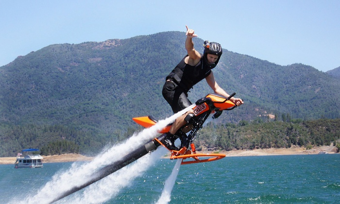 GoFly Water Aviation - Multiple Locations: Water Flight on a Flyboard, Jetovator, or Both, Plus Photos and Video from GoFly Water Aviation (Up to 51% Off)