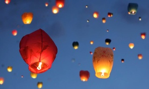 Chinese Sky Lanterns: Chinese Lanterns from ChineseSkyLanterns.com (Up to 61% Off). Two Options Available.