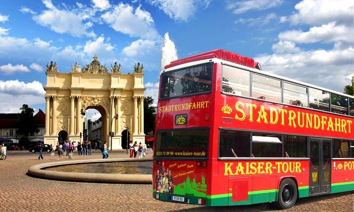 Kaiser Tour Stadtrundfahrten Potsdam - Potsdam Hauptbahnhof Nord: Rundfahrt und Führung durch Potsdam für Zwei, Vier oder Sechs mit Kaiser Tour Stadtrundfahrten Potsdam (48% sparen*)