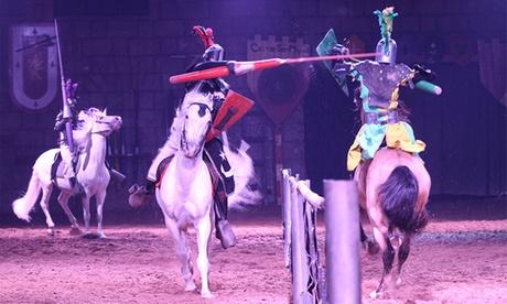 Cena medieval con doble espectáculo para 1 o 2 adulto y/o 1 niño desde 49,90 € en Castillo San Miguel Oferta en Groupon