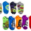 10 Pairs of Kids Star Wars and TMNT No-Show Socks