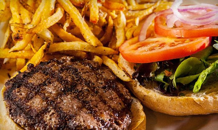 North End Café - Multiple Locations: Burgers and Fries for Two or Four at North End Café (Half Off)