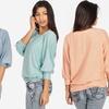 Women's Dolman-Sleeve Knit Top